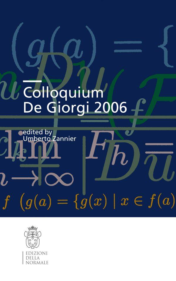 Colloquium De Giorgi 2006-0