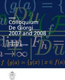 Colloquium De Giorgi 2007 and 2008-0