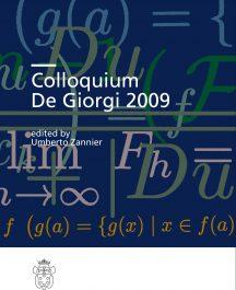 Colloquium De Giorgi 2009-0