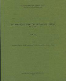 Lettere originali del Medioevo latino (VII-XI secolo), I, Italia-0