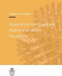 Algorithms for Quadratic Matrix and Vector Equations-0