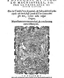 I discorsi di Nicolo Machiavelli sopra la prima deca di Tito Livio-0