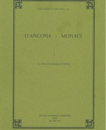 "Carteggio D'Ancona 12 ""D'Ancona - Monaci"" volume 1-0"