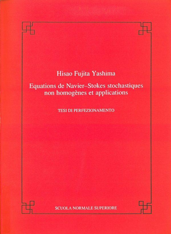 Equations de Navier-Stokes stochastiques non homognes et applications -0