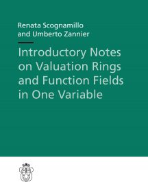 Introductory Notes on Valuation Rings and Function Fields in One Variable-0