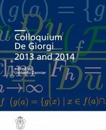 Colloquium De Giorgi 2013 and 2014-0